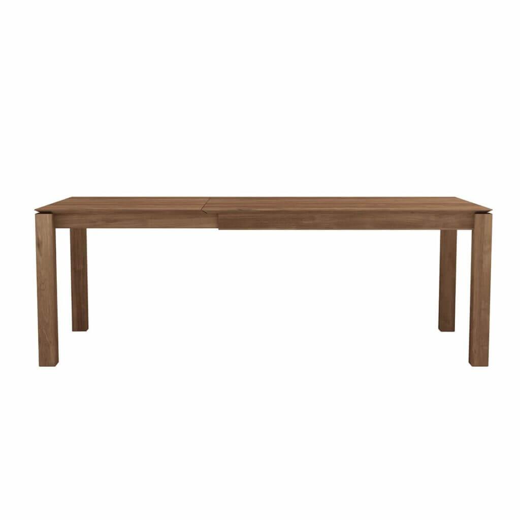Slice extendable dining table - Teak