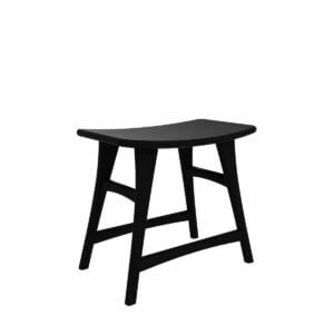 Osso-stool-low-black-stone