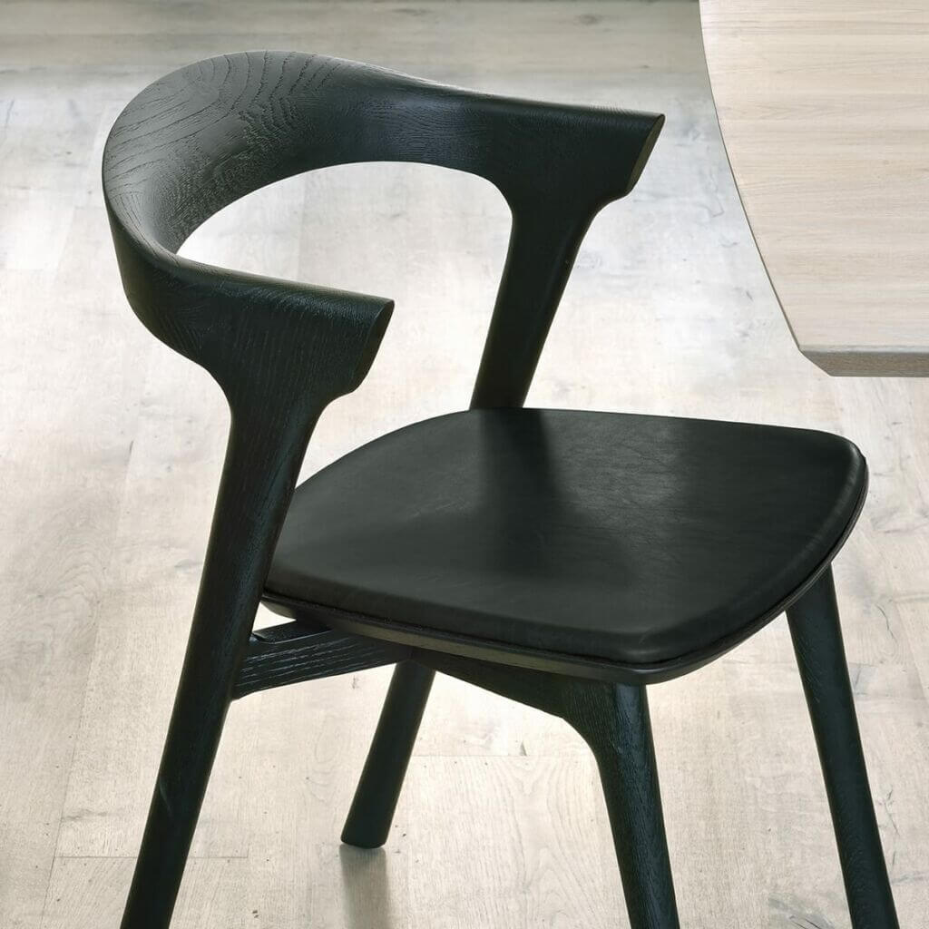 Bok chair / Letaher upholstery - Black