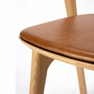 Bok dining chair / Cognac leather