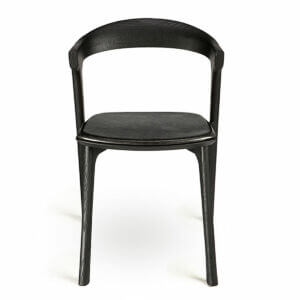 Bok dining chair / Black leather