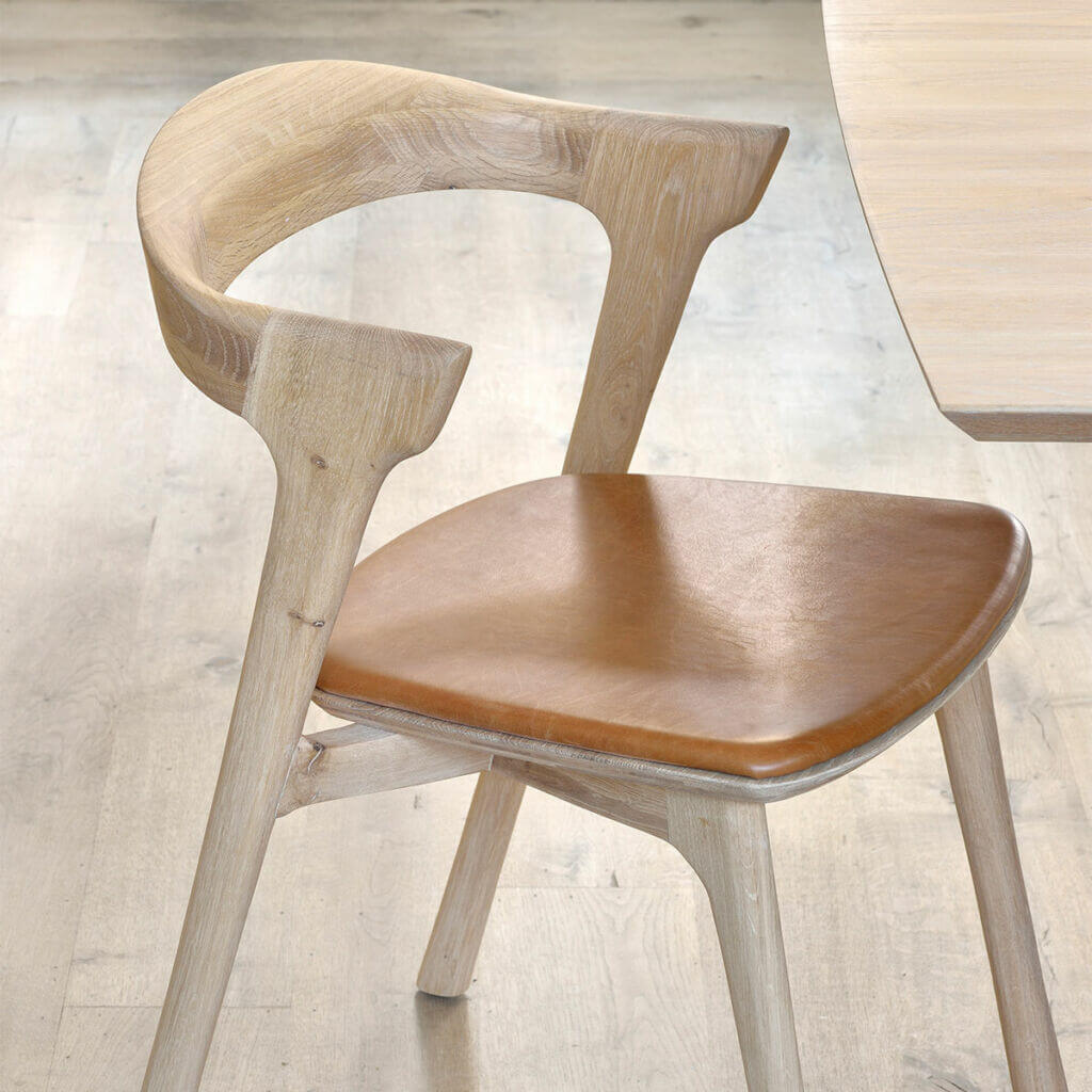 Bok dining chair - Cognac leather