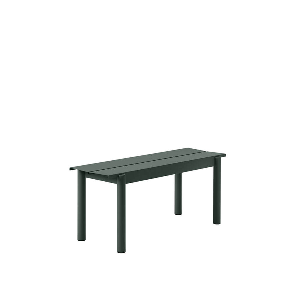 Linear Steel bench - Dark Green