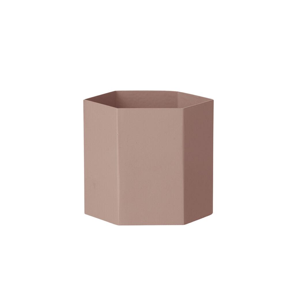Hexagon Pot - Rose
