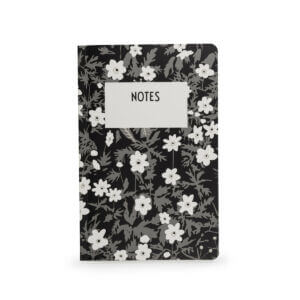 Vintage Flowers Design Letters Notebook