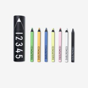 Color Crayons Design Letters