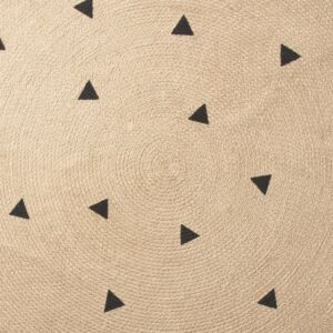 Jute Carpet with Black Triangles