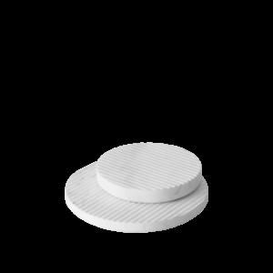 Groove Marble Trivet - White