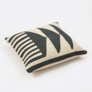Kelim Cushion - Black Triangles