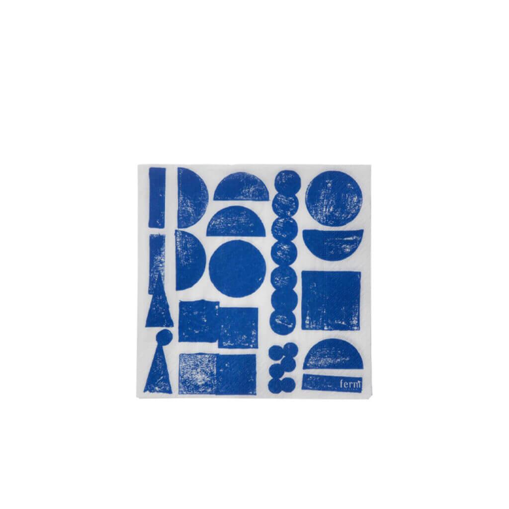 Stamp Napkin - Blue