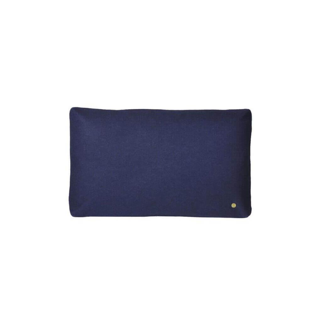 Wool Cushion - Dark Blue