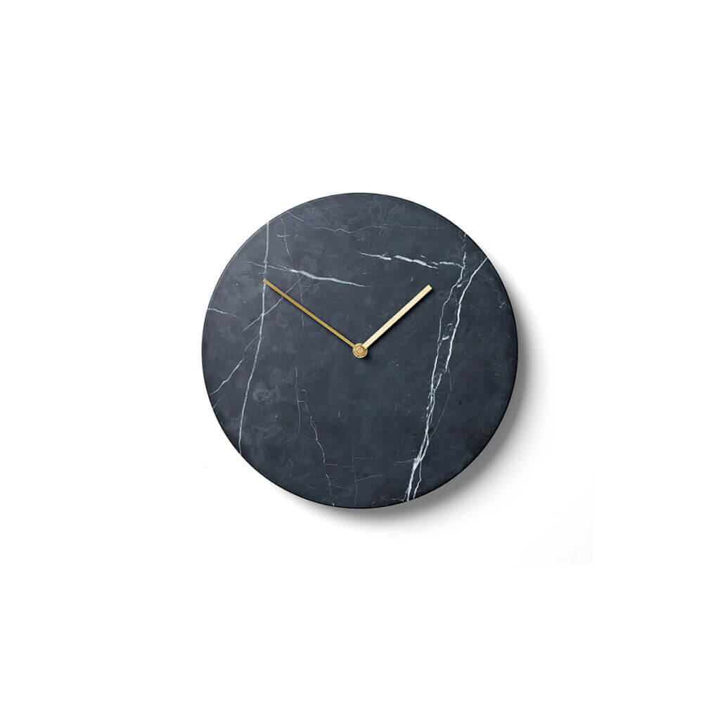 Marble Wall Clock - Black