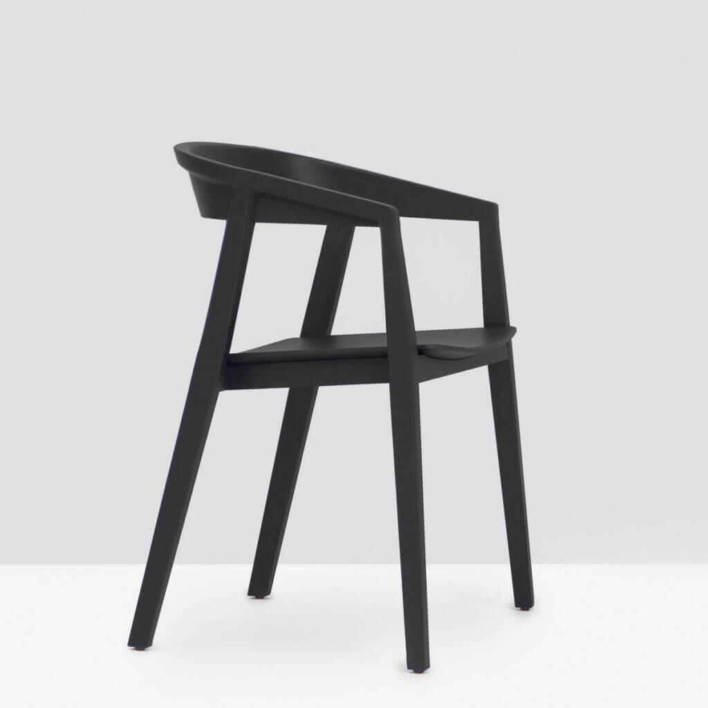 Brida Chair with Armrest - Black