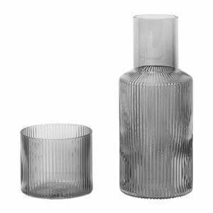 Ripple Carafe Set - Smoked Grey