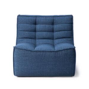 sofa 1 seater blue