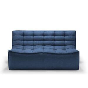 sofa 2 seater blue