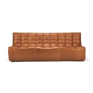 sofa 3 seater nut