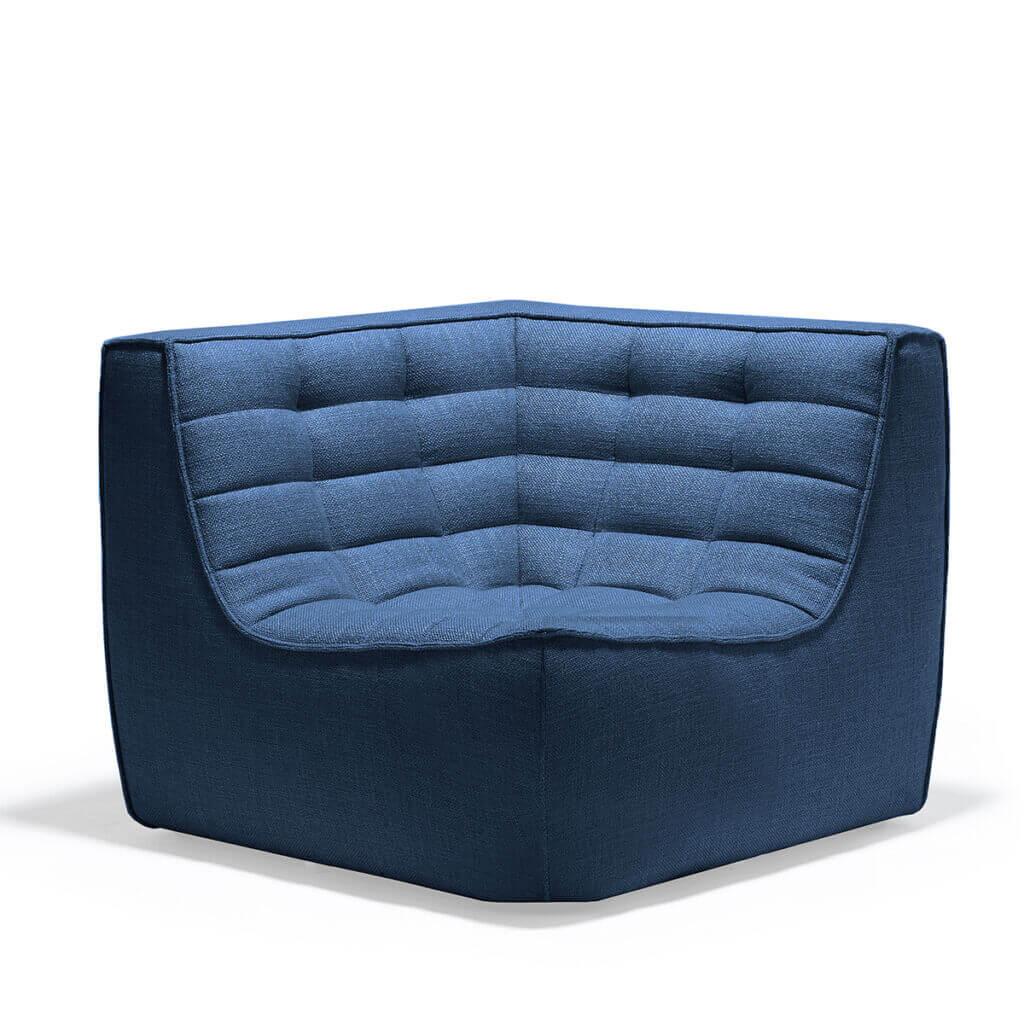 sofa corner blue