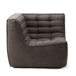 sofa corner dark grey