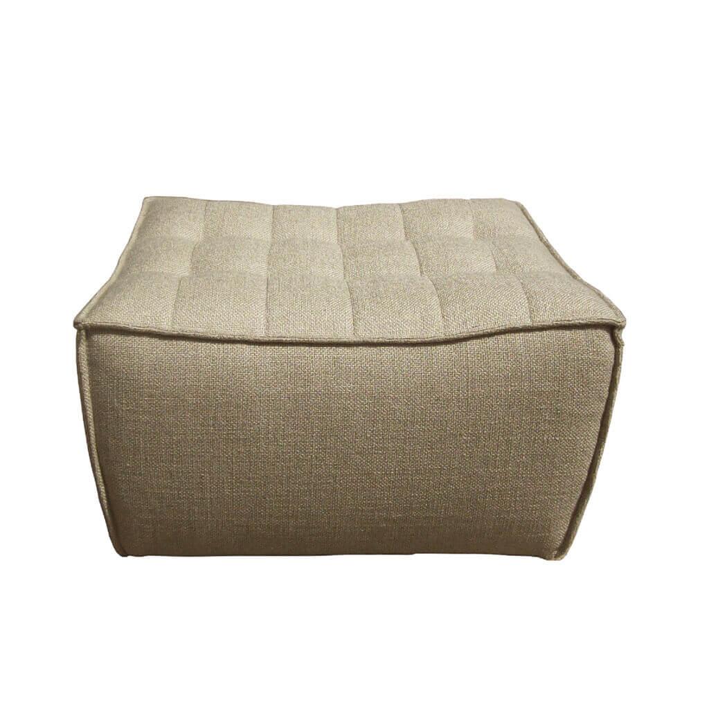 sofa footstool beige