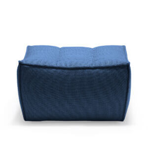 sofa footstool blue