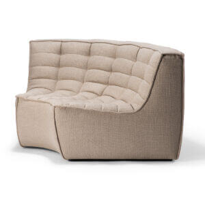 sofa round corner beige 2