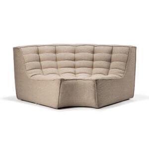 sofa round corner beige