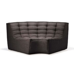sofa round corner black
