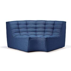 sofa round corner blue