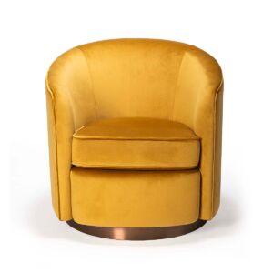 swivel sofa gold 3