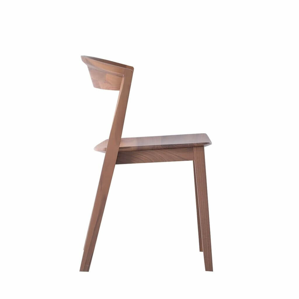 Brida Chair without Armrest - Walnut