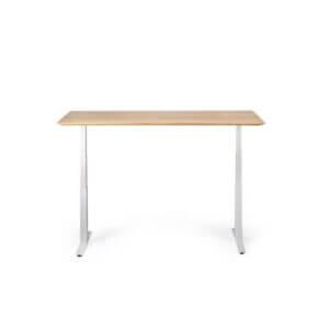 Bok Adjustable Table - White legs / Oak table top