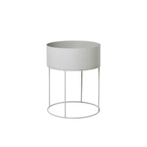 Plant box - Round - Light grey