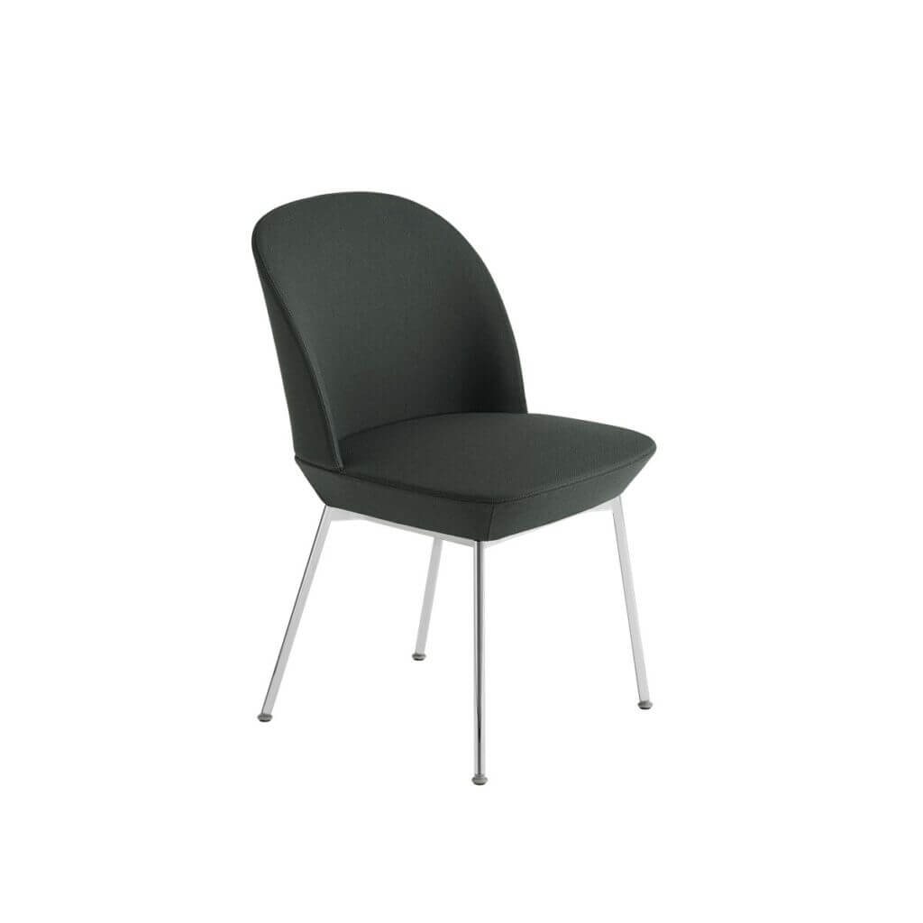 Oslo Side Chair - Twill Weave 990/Chrome legs