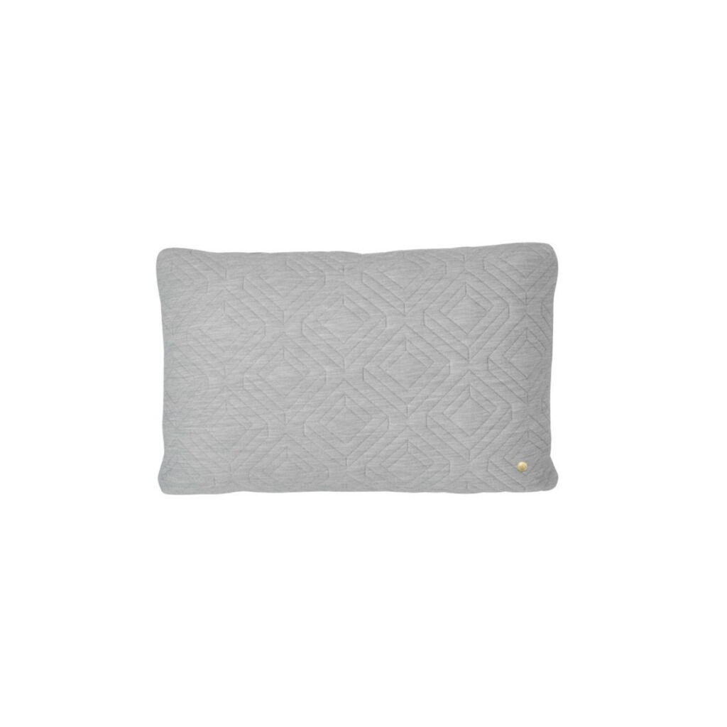 Quilt Cushion - Light Grey