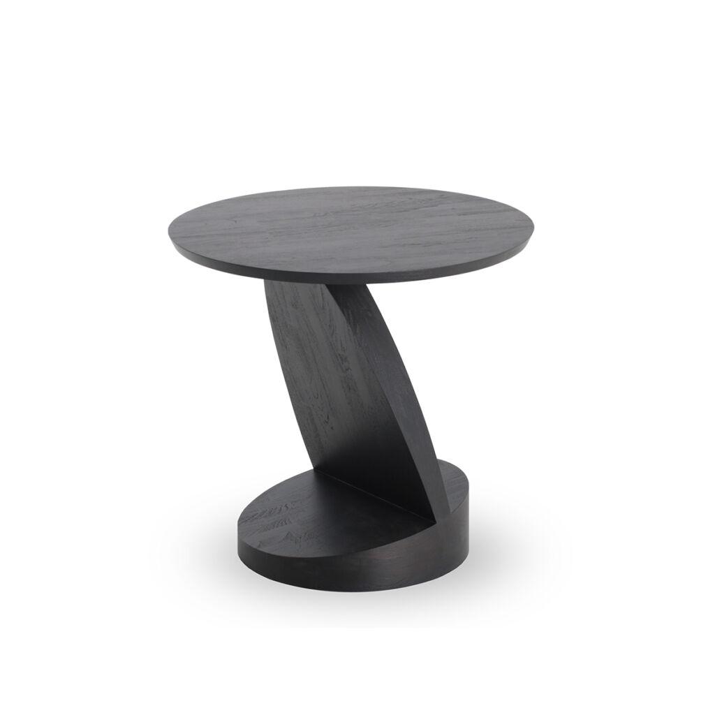 Teak Black Oblic side table