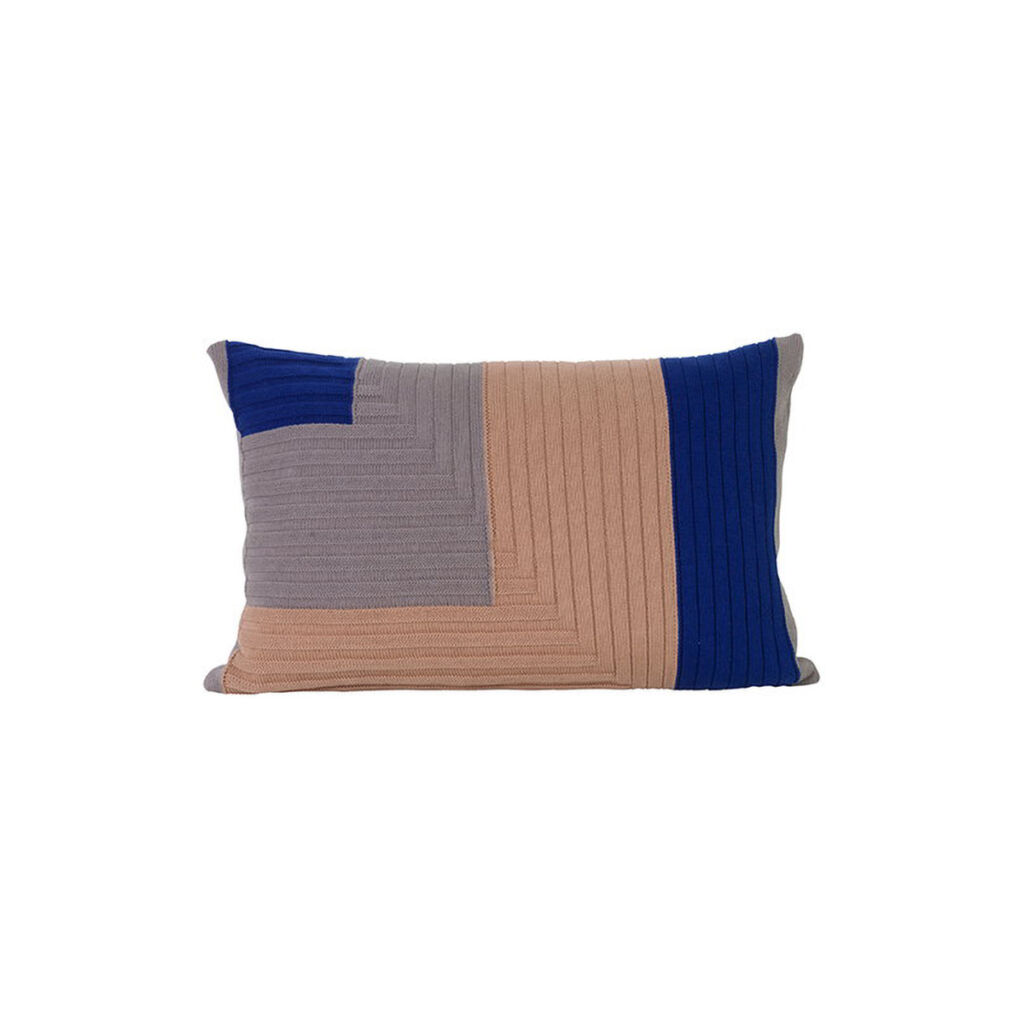 Angle Knit Cushion - Dusty Rose