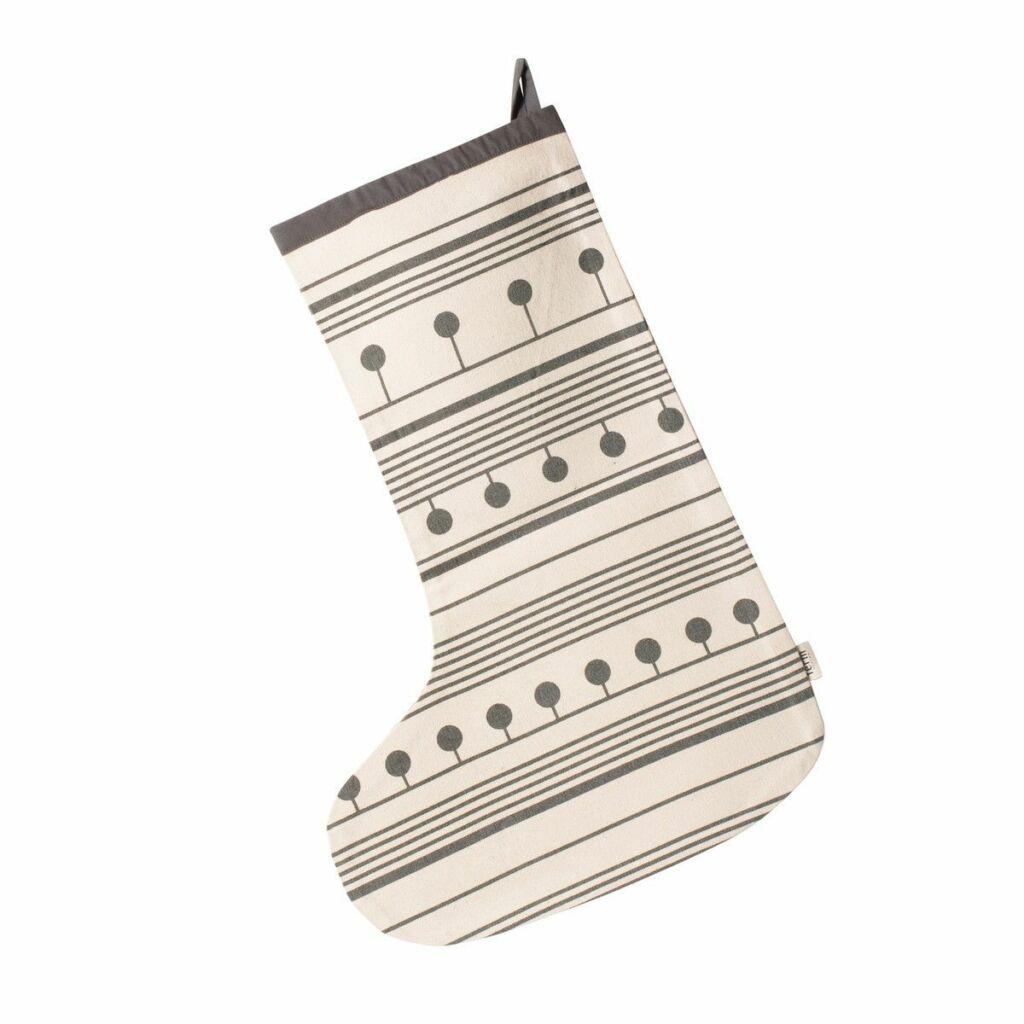 Winterland Christmas Stocking - Grey
