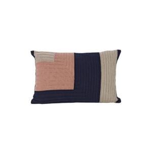 Angle Knit Cushion - Dark Blue