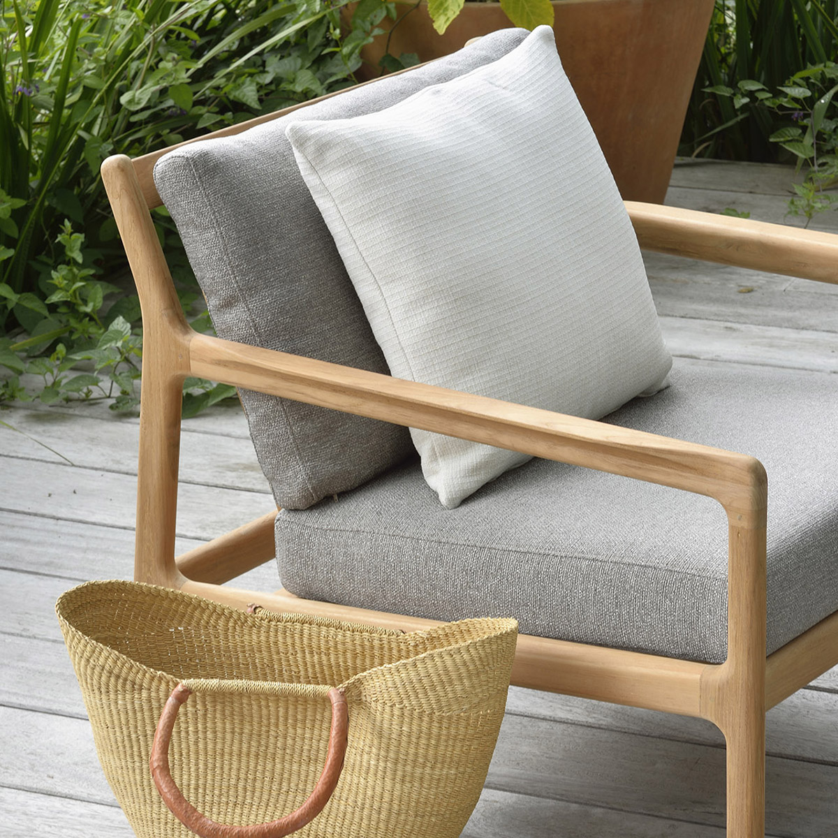 Jack Outdoor Lounge chair - Mocha
