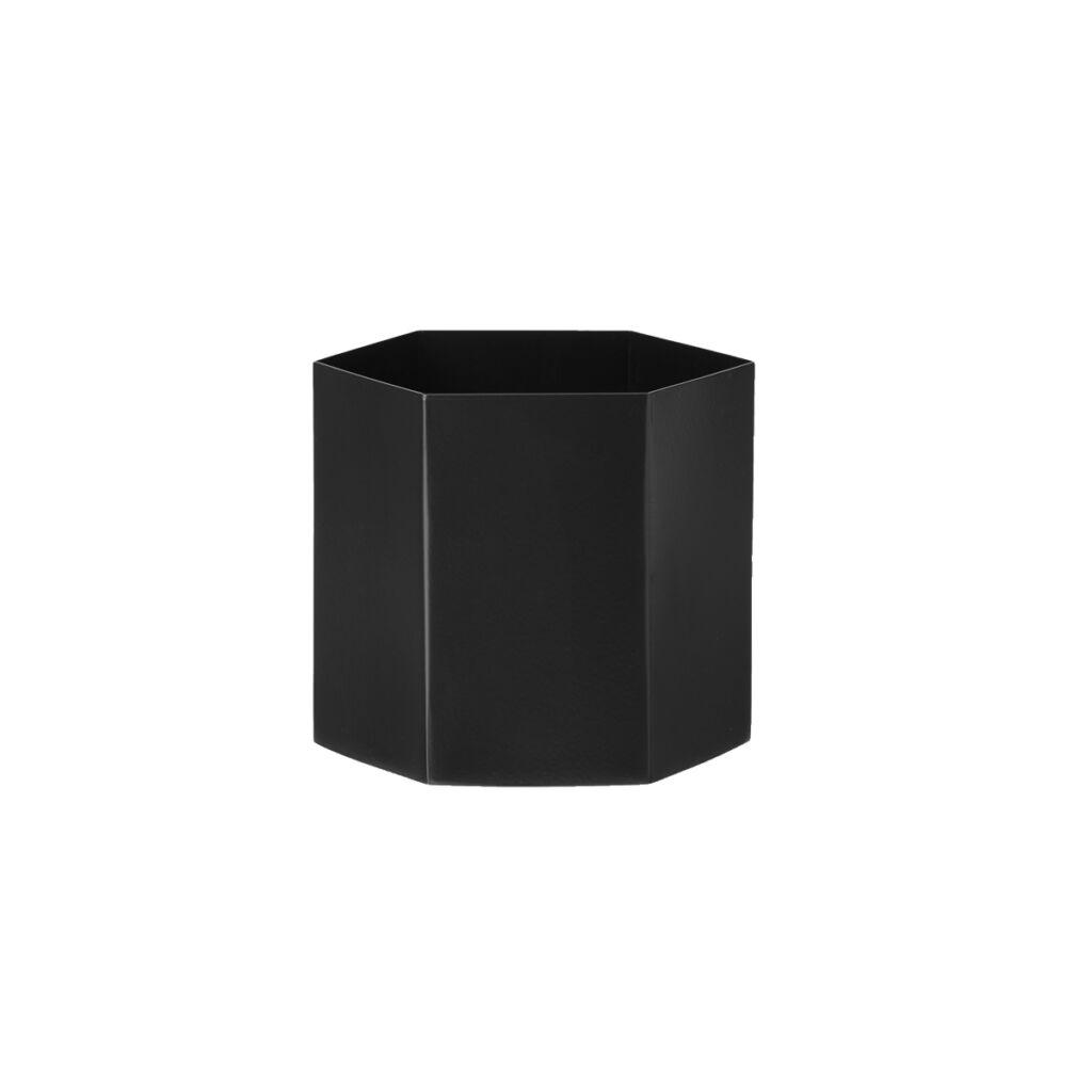 Hexagon Pot - Black