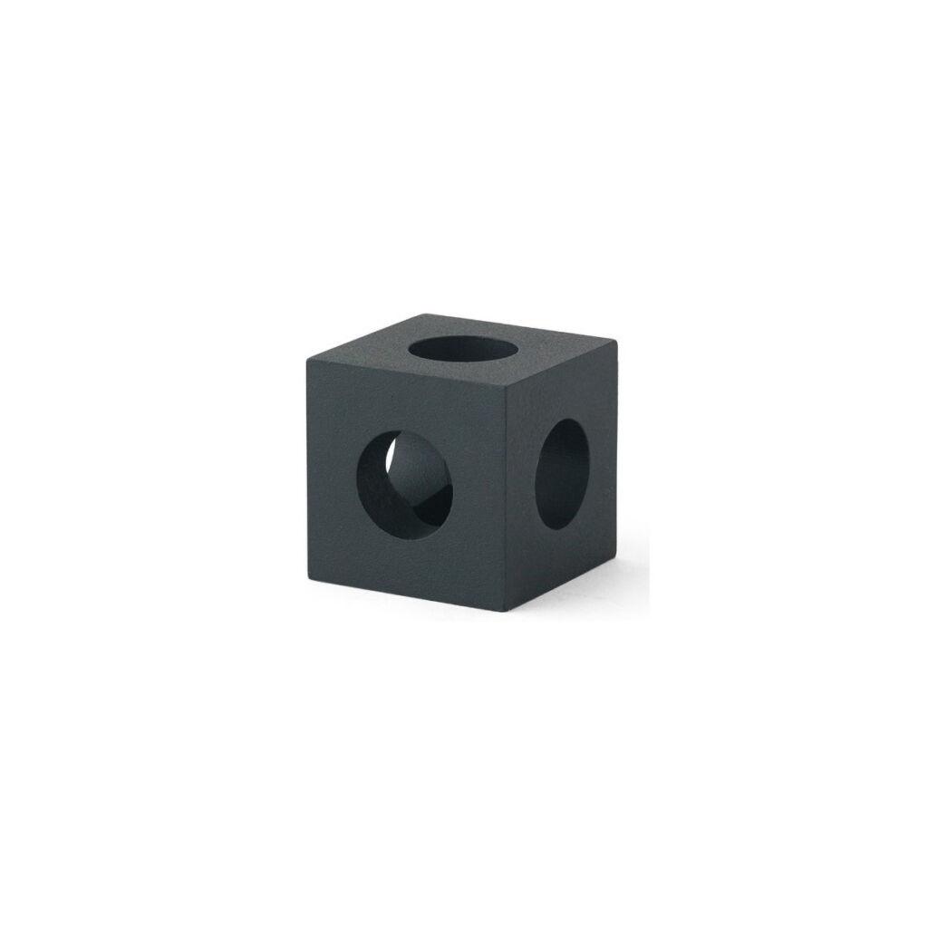 Cube Candleholder - Black