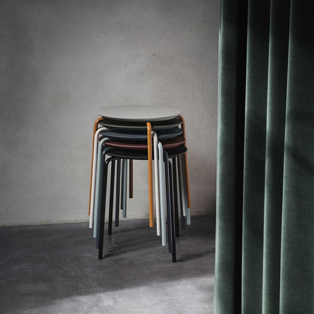 Herman Stool / Green - Light grey