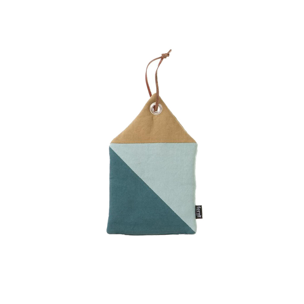 House Pot Holder - Blue