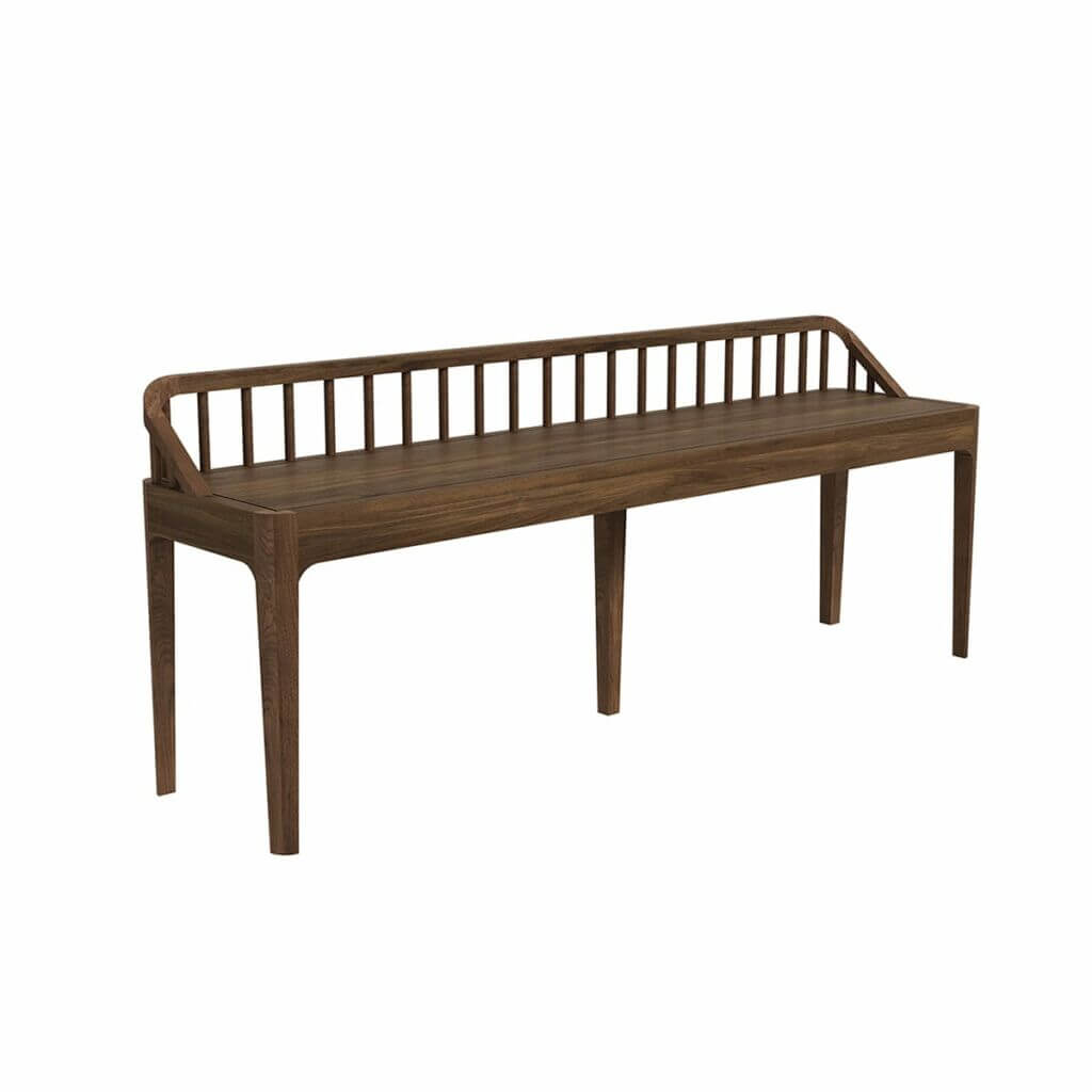 45180 Spindle bench - Walnut (2)