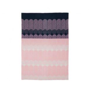 Ekko Throw Blanket - Navy / Rose