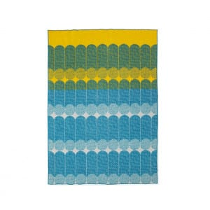 Ekko Throw Blanket - Yellow / Dusty Blue