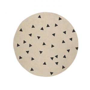 Jute Carpet - Triangles