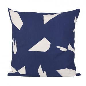 Cut Cushion - Dark Blue