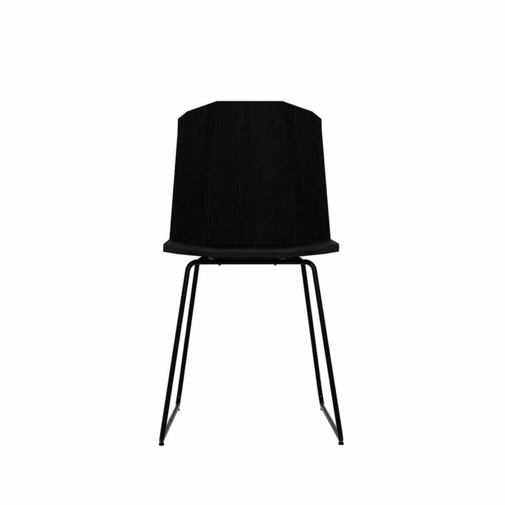 Facette Chair / Black tainted oak